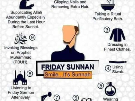 For Huge Reward From Allah (S.W.T), See 10 Sunnahs Muslims Should Observe On Jumu'ah Day (Friday)
