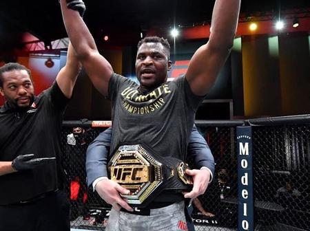 Africa's first time UFC Heavyweight Champion and see the country he is from