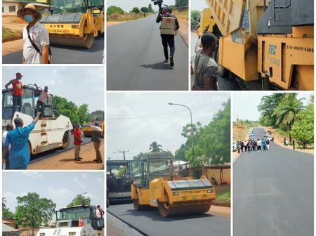 Check Out Photos Of Some Ongoing Road project In Kogi State By Yahaya Bello
