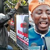 """Nigerians In London Attempt To Climb Abuja House Fence To Ask Buhari To Leave The UK"" — Sowore"