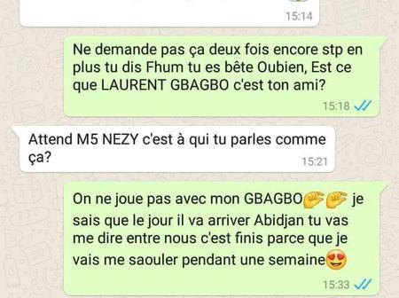 Il met fin à sa relation à cause d'un manque de respect de sa copine sous la  photo du pr Gbagbo