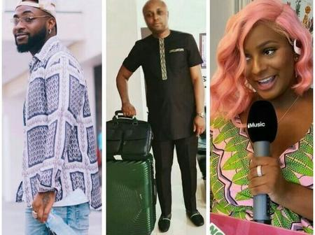 See what people are saying after Davido commented 'Tule' on DJ Cuppy's post on Instagram