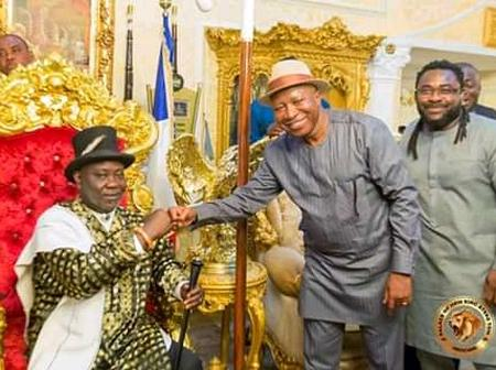 The new coordinator of presidential Amnesty program col.  Milland Dixion Dikio rtd visit HRM king At
