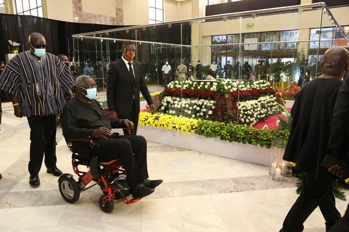 5aeb16e184564ca6ae7a2577cd3900de?quality=uhq&resize=720 - Photos: Ex Prez. Kufuor Pays His Last Respect To His Political Rival, JJ Rawlings As He Goes Home Today