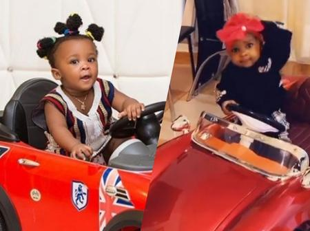 Strongman's Daughter and Nana Ama McBrown's daughter puts their cars on display: See photos