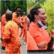 Watch the video of Brickz and other inmates sing that left Mzansi in excitement and some in tears