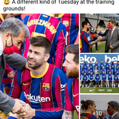It was a different kind of Tuesday at Barcelona training ground.