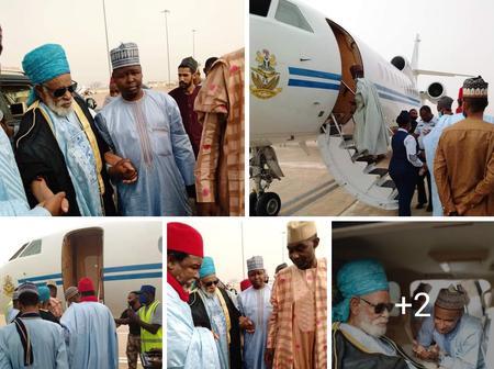 Sheikh Dahiru Bauchi Boarded Airfoce Plane to Abuja [Photos]