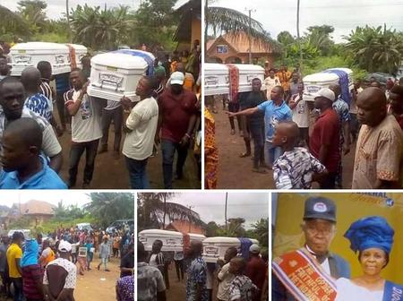 Sad News: Tears As Husband And Wife Are Laid to Rest On The Same Day(PHOTOS)