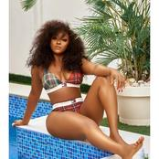 Ini Edo flaunts sexy body in Tommy Hilfiger designer Bikini to promote business