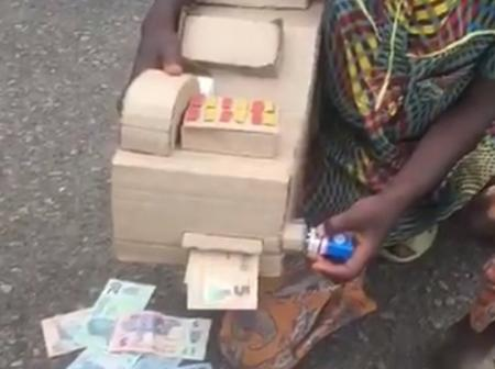 Nigerians With Their Talents, See 10 Years Old Boy Who Built ATM Machine With Wasted Paper Carton