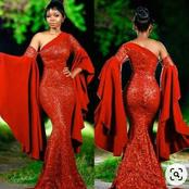 Are you ready for Valentine's party? See these latest red gown styles you will love to rock to party