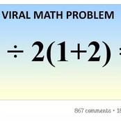 See The Maths question causing Brouhaha on Facebook - Can you solve it?