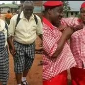 Check Out Photos of Mr Ibu, Regina Daniels And Other Nigerian Celebrities In School Uniform
