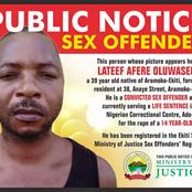 Ekiti State govt publishes name, photo of man jailed for life for sleeping with 14-yr-old girl