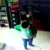 (Video)Drama In Gatitu, Thika As Two Women Are Caught Stealing Alcohol From A Liquor store