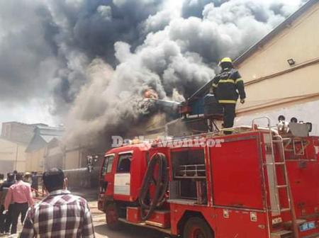 Joint Medical Store Warehouse on Fire Destroying Drugs Worth Millions of Money in Kampala Uganda