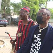 Drama In Abuja As Sowore Storms Court With A 'Native Doctor' For His Trial (Photos)