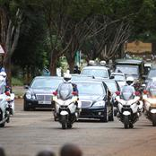 Security Breach as Motorist Drives Alongside President Uhuru's Motorcade to State House (Photos)