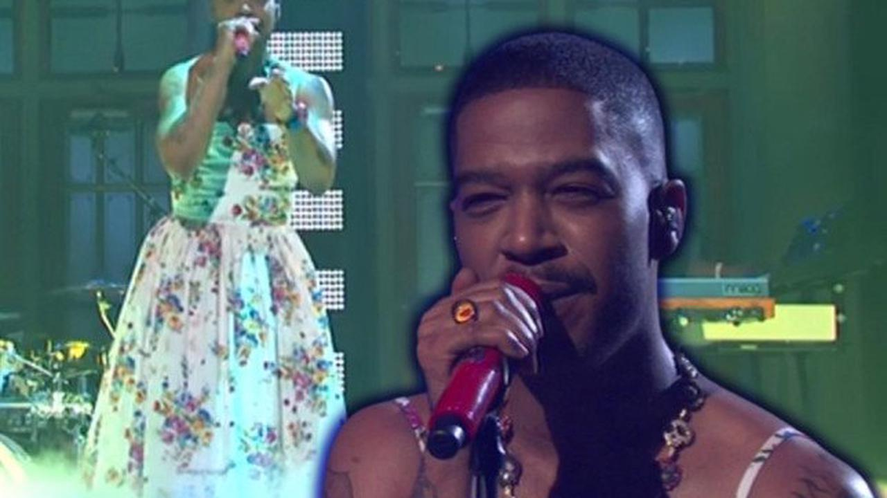 Kid Cudi on paying tribute to Kurt Cobain with floral dress on SNL