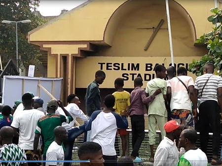 Nigeria Vs Lesotho : What Went Down Outside The Teslim Balogun Stadium