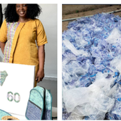 Checkout What This Lady Made From Used 'Pure Water' Sachet (Photos)