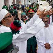 Pigeons released by President Buhari refused to fly at Armed Forces Remembrance Day