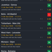 Six Matches That Will Win Today With A Huge Return