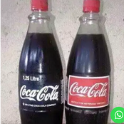 The contrast Between Red And White Labeled Coke.