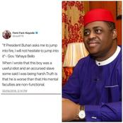 Before FFK endorsed Yahaya Bello for presidency, see what he said about him in 2018