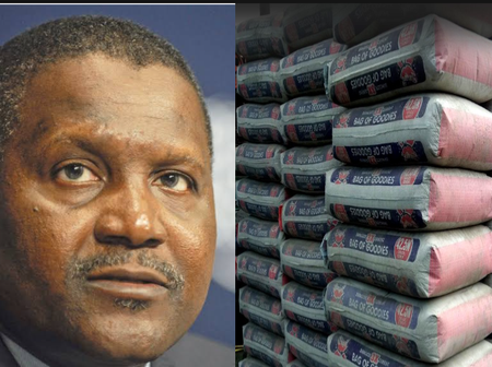 Dangote finally reveals the factory price of, a bag of cement in Nigeria