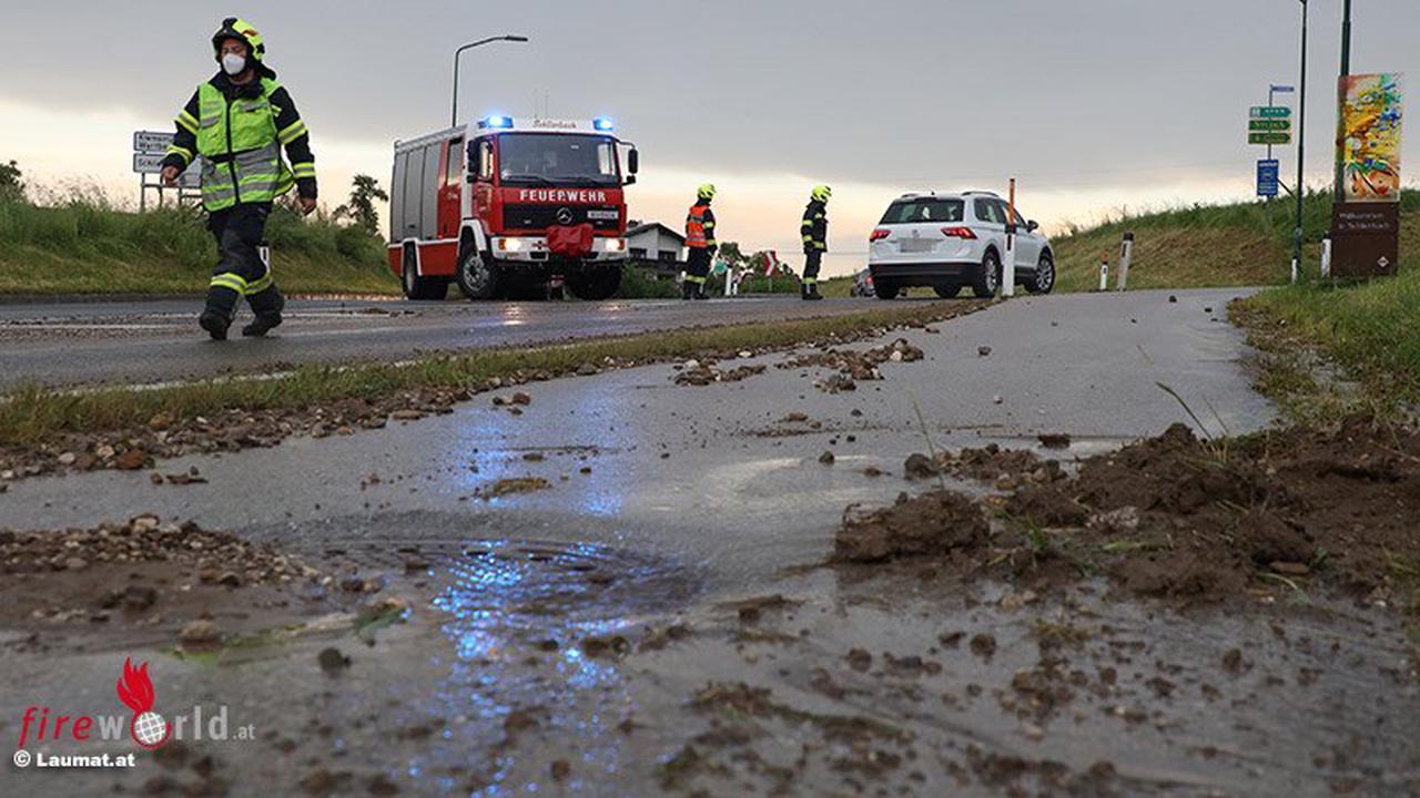 Oö: Gewitter mit lokalem Starkregen sorgen für Einsätze einiger Feuerwehren am 5. Juni 2021