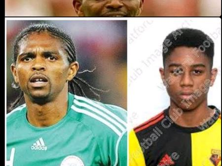 Meet Kanu Nwankwo's Son Who Is Currently A Player Of A Club In England