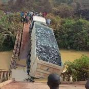 Sad Scenes As Bridge Collapses With A Truck on it