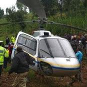 Scare After A Helicopter Carrying Several Kenyan Politicians Makes Emergency Landing 5 Minutes After Take-off