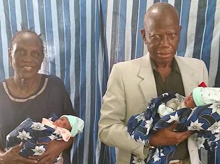 Throwback Story Of 68-Year Old Nigerian Woman Who Gave Birth To Twins