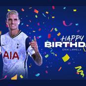 Tottenham Spurs wishes Erik Lamela a happy birthday.
