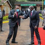He's Already Feeling The Heat, Jitters As Ruto Attends Uhuru's Function For The First Time