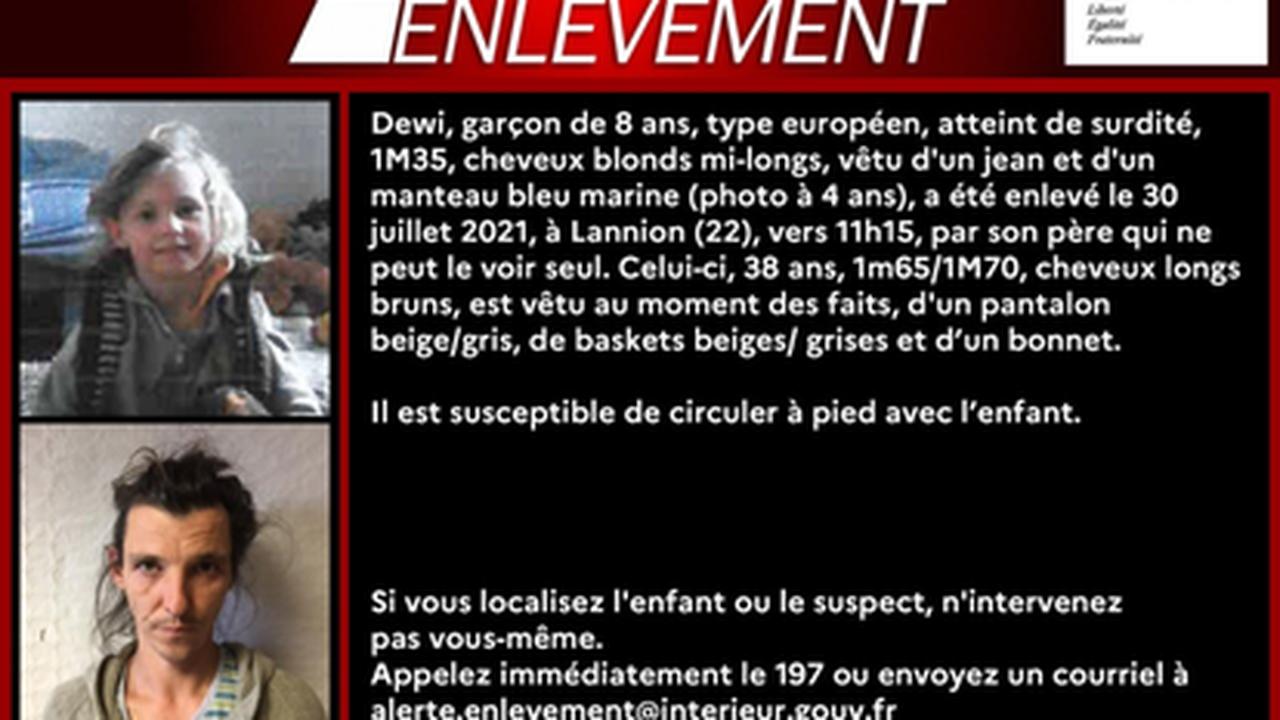 Alerte enlèvement lancée pour un enfant de 8 ans disparu à Lannion, dans les Côtes-d'Armor