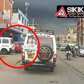 Only In Kenya:Netizens React After A Photo Of An Ambulance With A learner Sign Emerge