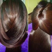 كيراتين طبيعي لفرد الشعر المجعد والخشن كالحرير من أول استعمال