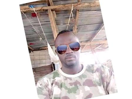 SAD: Photo of Soldier Who Allegedly Shoots Himself Dead Out Of Depression