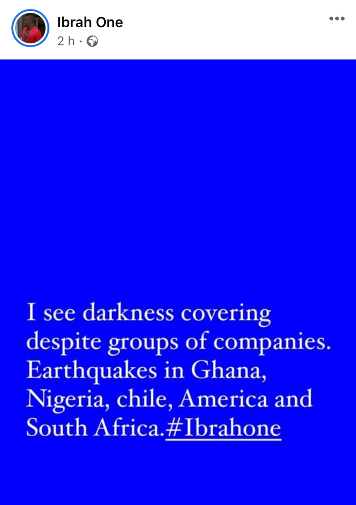 5d828ed332bc43adbb4f9d4c03c7b872?quality=uhq&resize=720 - I See Darkness Covering Despite Group Of Companies, Earthquake In Ghana, & Other Countries - Ibrah One