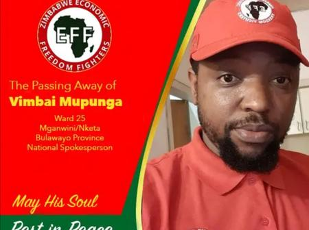 Breaking news: EFF Spokesperson and head of information died