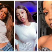See Pictures Of The Lady That Tattooed BBN Ka3na's Name On Her Thigh And Allegedly Drank Poison