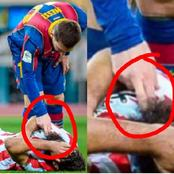 See What Lionel Messi Did To An Opponent Player After Slapping Him That Got A Lot Of Reactions