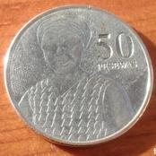 The Makola woman on the 50 coin found