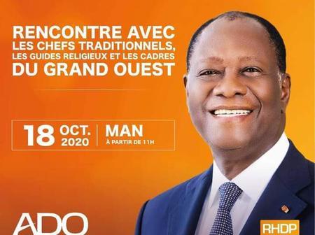 Présidentielle 2020: Alassane Ouattara à Man, dans le fief de Mabri ce dimanche