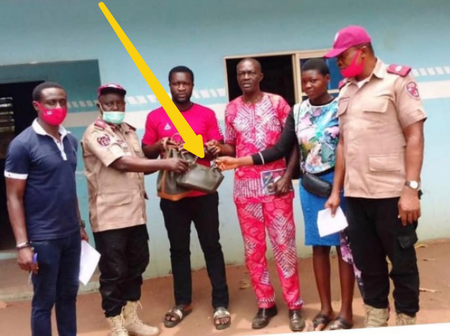 FRSC Officers Found N716,800 In An Accident Scene, See What They Did That Got Reactions On Twitter