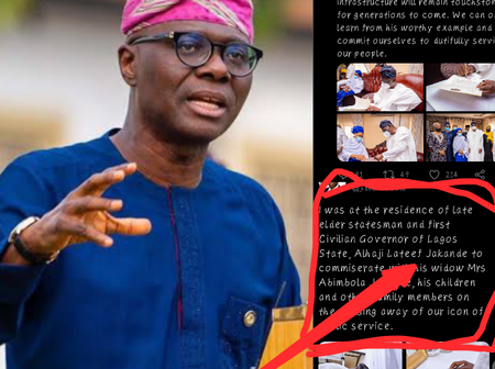 Lagosians Reply  Sanwo-Olu After He Posted This About Former And Now Late Lagos State Governor Lateef Jakande